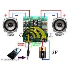ماژول آمپلی فایر دیجیتال استریو 6 وات (2x3watt)
